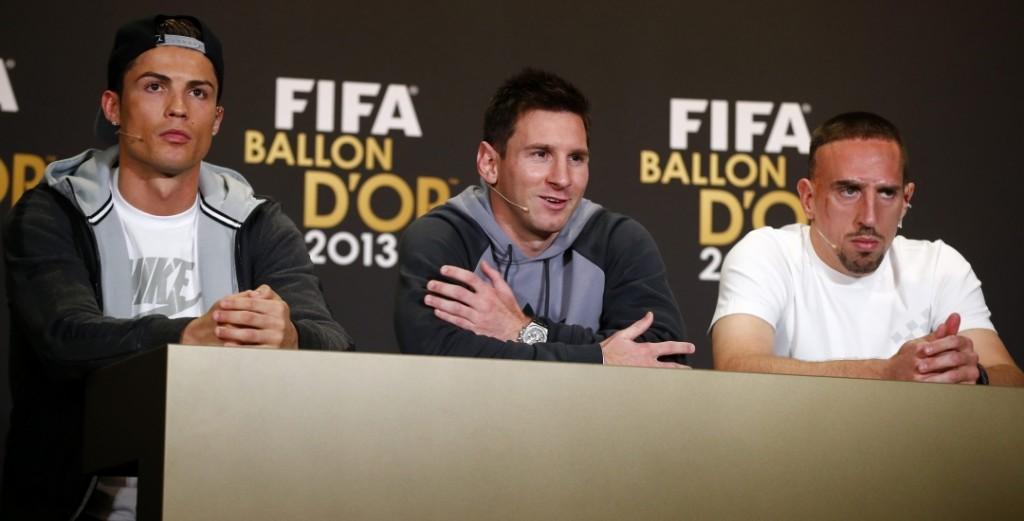 Kristijano Ronaldo, Leo Mesi i Frank Riberi