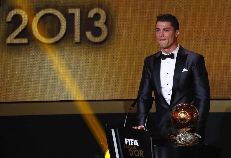 Kristijano Ronaldo na dodeli Zlatne lopte