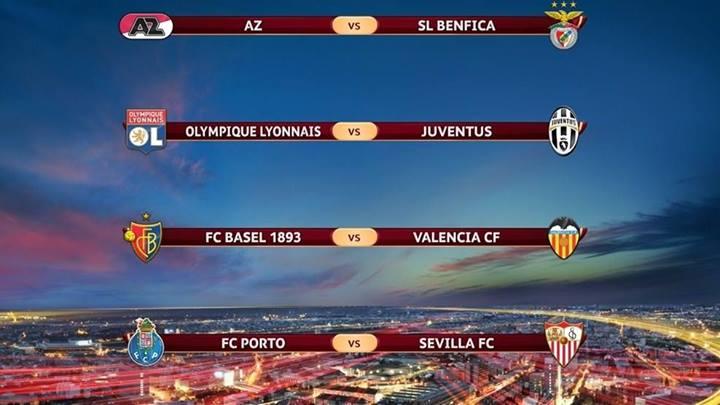 Parovi četvrtfinala Lige Evrope