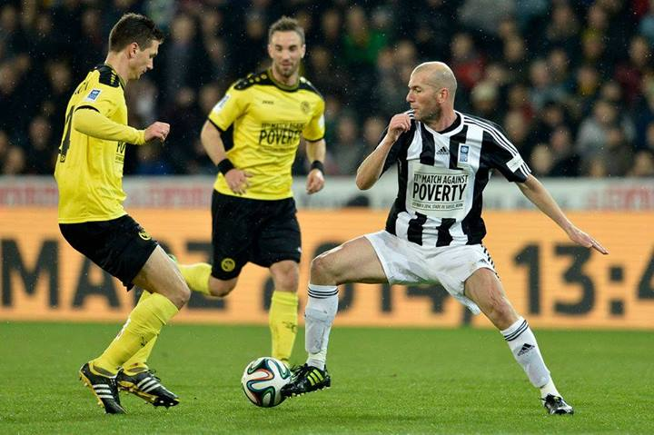 Milan Vilotić u duelu sa Zidanom.